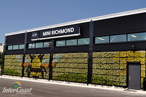 MINI Cooper in Richmond BC Goes Evergreen with Living Green Wall