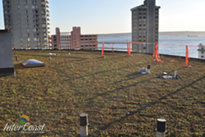 Westerleigh Retirement Residence, West Vancouver Installs Garden Roof with Hydrotech Green Roof & Etera Sedum Tile