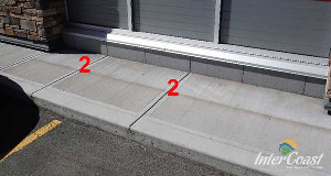 Notice that the expansion joints of the sidewalk line up with the joints in the CFI the CFI Concrete Faced Insulation making for a nice uniform appearance