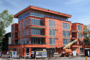 Calgary Palfreyville Condo's Choose Superior Breathable SRP Rainscreen Membrane from InterCoast Building Solutions Vancouver BC