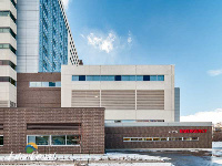 Ten Plus Aluminum Architectural Products - Model H6451 Storm Blade Louvers at Humber River Hospital, Toronto ON Image 1
